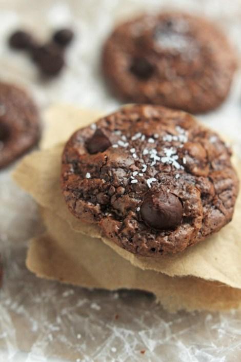 Chocolate Truffle Cookies with Sea Salt | Carmel Moments