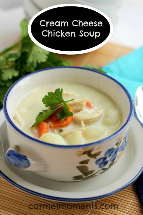 Creamy Chicken Soup made with Cream Cheese