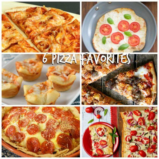 6 PIZZA FAVORITES