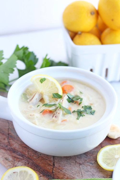 Creamy Turkey Lemon Rice Soup