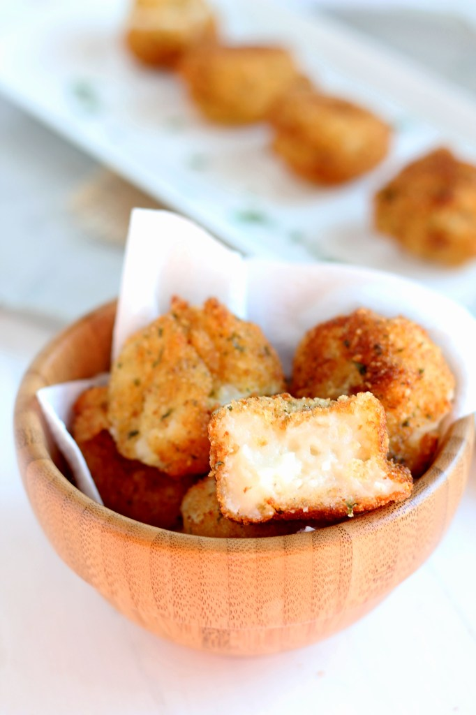 Fried Mashed Potato Balls -- Perfect use for leftover mashed potatoes. Crunchy outside, creamy inside |gatherforbread .com