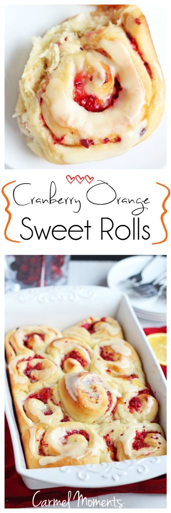Cranberry Orange Sweet Rolls. Cinnamon like buns made with homemade dough. Fresh cranberries combined with delicious orange marmalade. Sunshine for your Christmas morning, these bake up beautifully.