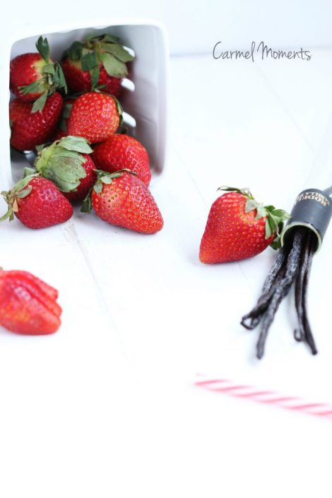 strawberry and vanilla beans