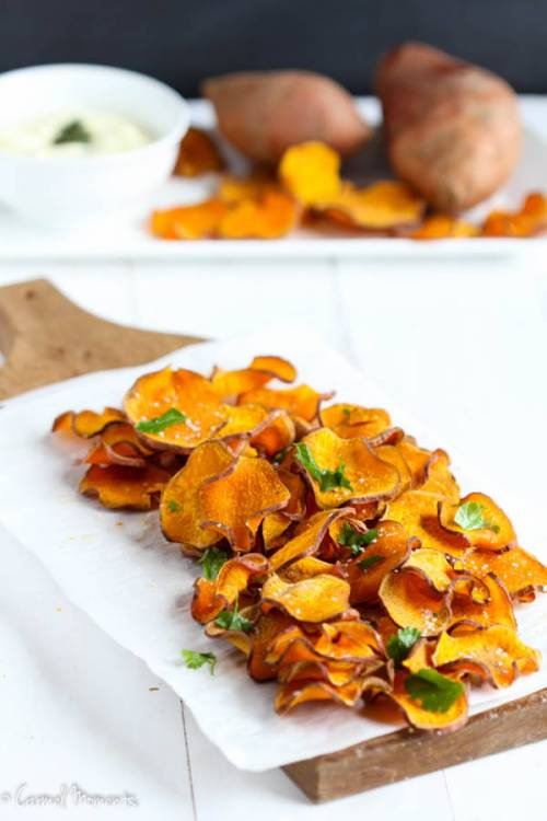 Baked Sweet Potato Chips-6