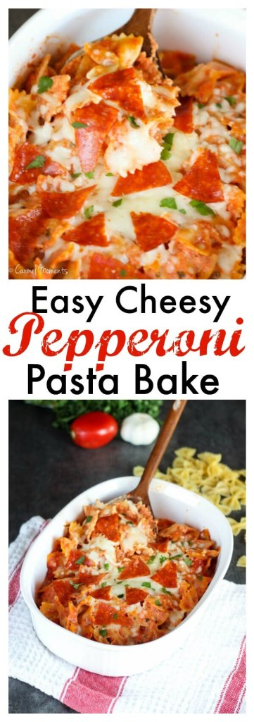 Easy Cheesy Pepperoni Pasta Bake