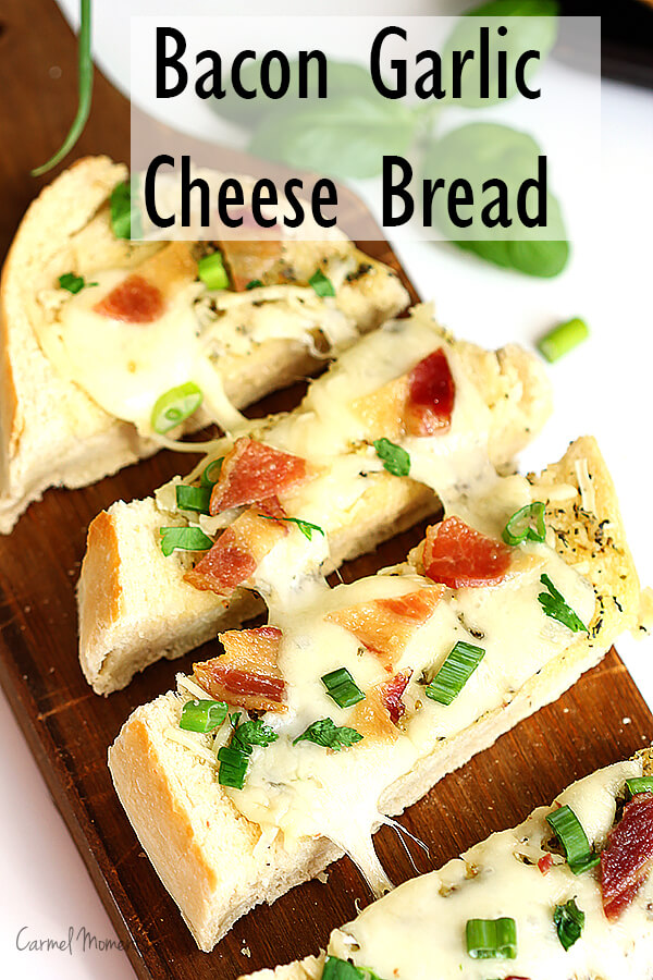 Bacon Garlic Cheese Bread - Only a few ingredients and you're on your way to perfect party food. So incredible you're sure to make again and again!