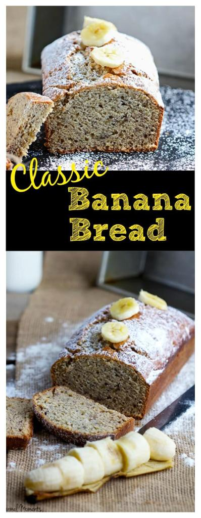 Classic Banana Bread - Traditional banana bread made healthier with coconut oil and Greek yogurt to keep it moist and flavorful. Perfect for breakfast or snack, it's a family favorite!
