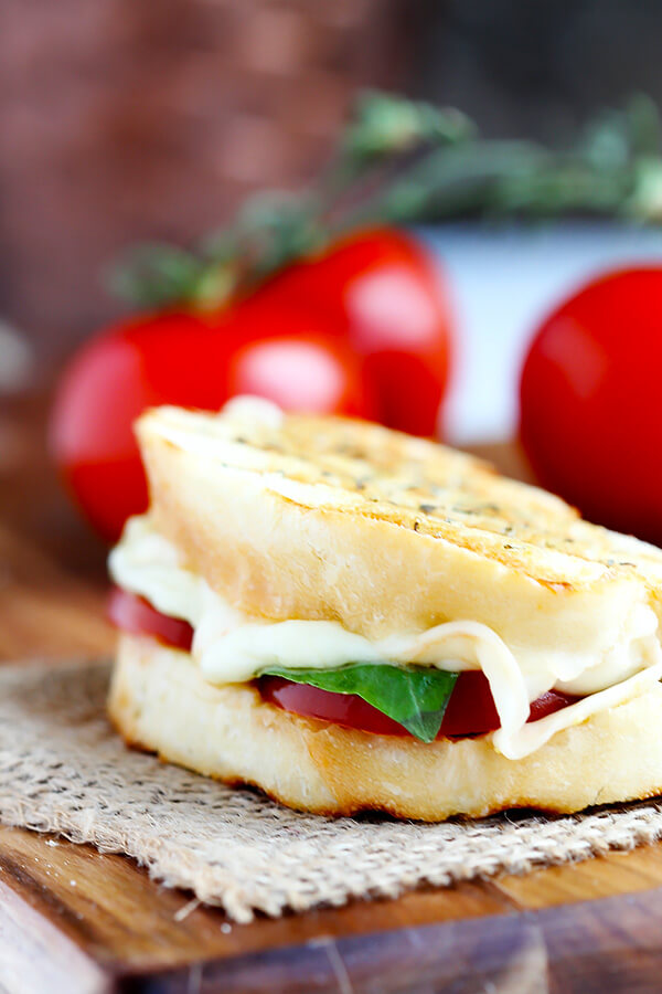 Favorite Caprese Grilled cheese