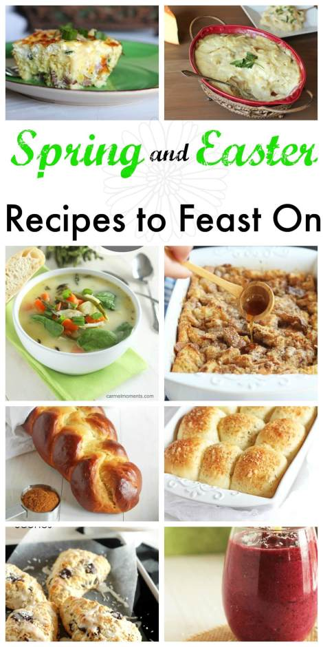 Spring and Easter Recipes to Feast On - 13 delicious recipes to add to your menu . From breads and buns to drinks and side dishes. You're sure to find one you love!