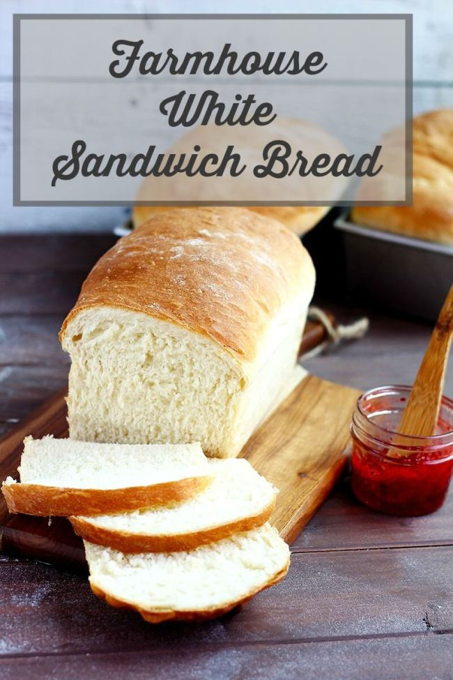 Farmhouse White Sandwich Bread - A delicious soft white bread that's perfect for sandwiches, toast and grilled cheese. An all purpose bread that you'll make over and over again.