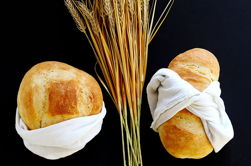 Easy Perfect Yeast Bread - Simple no fail yeast bread makes 2 delicious artisan loaves.