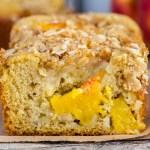 Peach Streusel Quick Bread