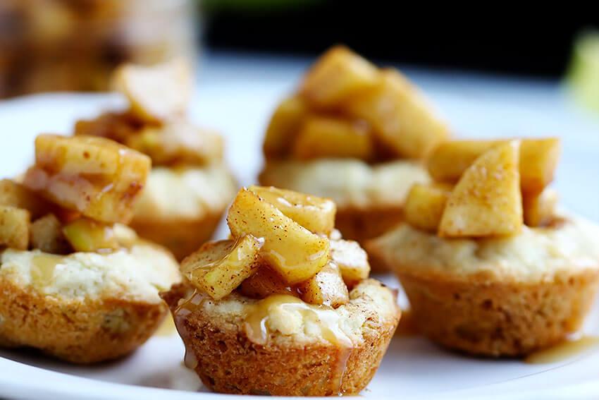 Caramel Apple Sugar Cookie Cups