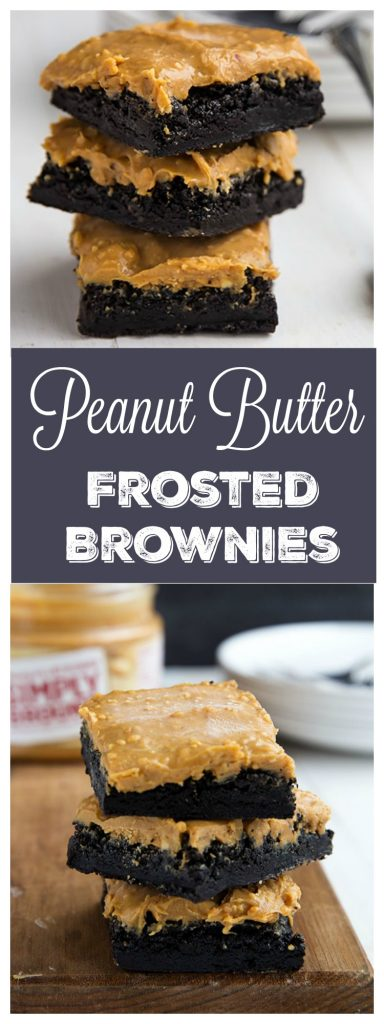 Peanut Butter Frosted Brownies // Gather for Bread
