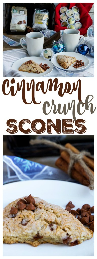 Cinnamon Crunch Scones - Soft and flavorful. The perfect quick breakfast! // Gather for Bread