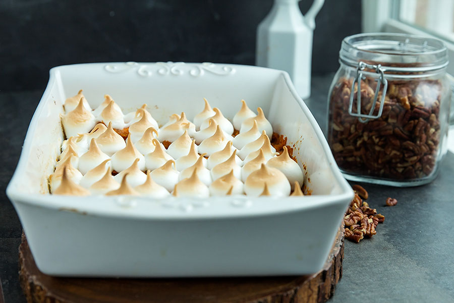 Sweet Potatoes with Marshmallow Meringue