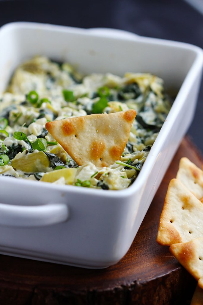 Creamy Parmesan Spinach Artichoke Dip | Gather for Bread