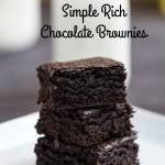 Simple Rich Chocolate Brownies