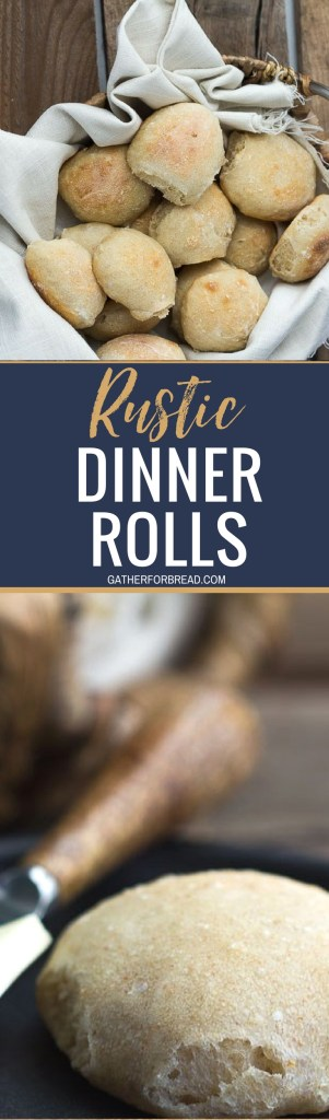 Rustic Dinner Rolls //  Homemade dinner rolls with rustic appeal. Made from scratch and the perfect addition to soup or  stew. So delicious! #rustic #dinnerrolls #bread #breadbaking #yeast #rolls