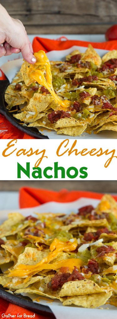 Easy Cheesy Nachos | gatherforbread.com