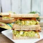 Avocado Bacon Egg Salad Sandwich