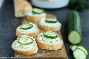 Cucumber Goat Cheese Sandwich Bite