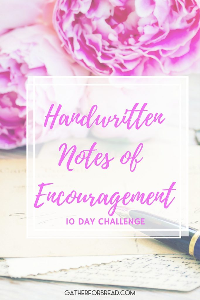 Handwritten Notes of Encouragement