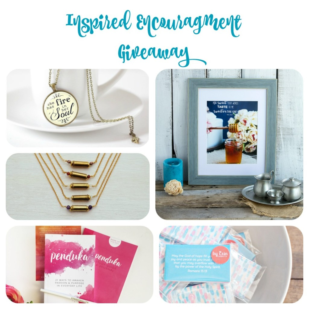 Inspired Encouragment Givaway Collage