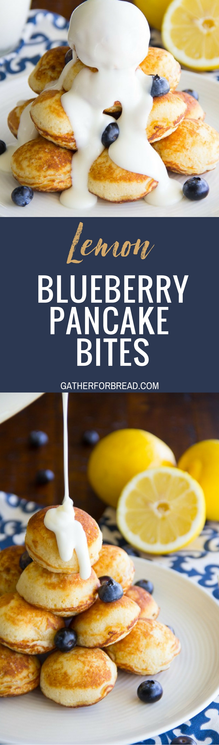 Lemon Blueberry Pancake Bites - Lemon blueberry pancake poppers, made these from scratch. These little poppers make the perfect easy breakfast recipe.