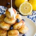 Lemon Blueberry Pancake Poppers