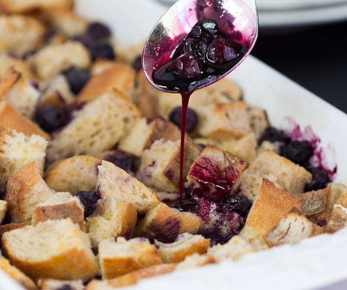 Blueberry Bread Pudding | gatherforbread.com