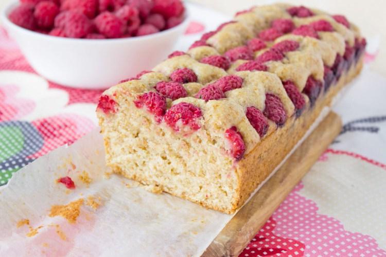 Vegan Raspberry Lemon Poppyseed Cake