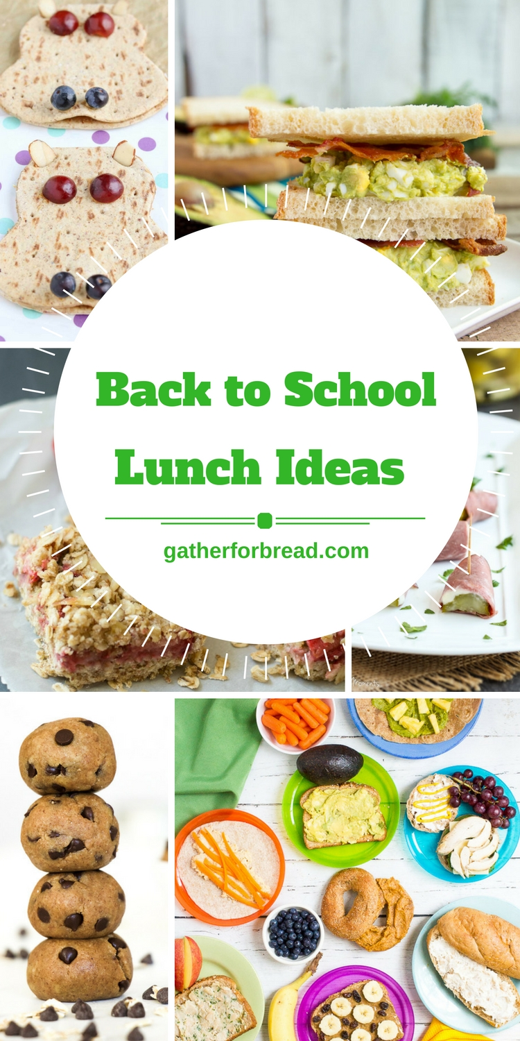 20 pack able school lunch ideas gather for bread back to school lunch ideas round up forumfinder Gallery