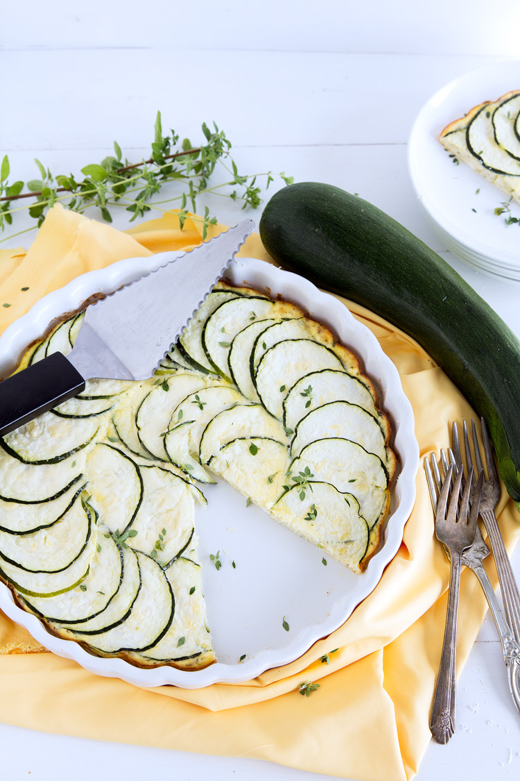 Crustless Zucchini Pie