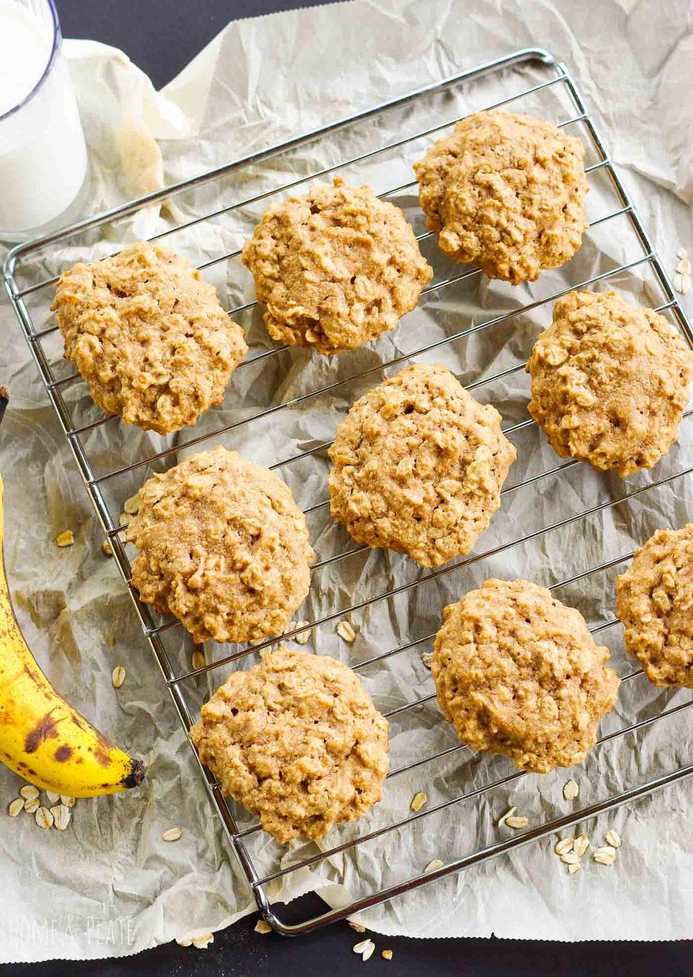 Healthy Peanut Butter Banana Cookies