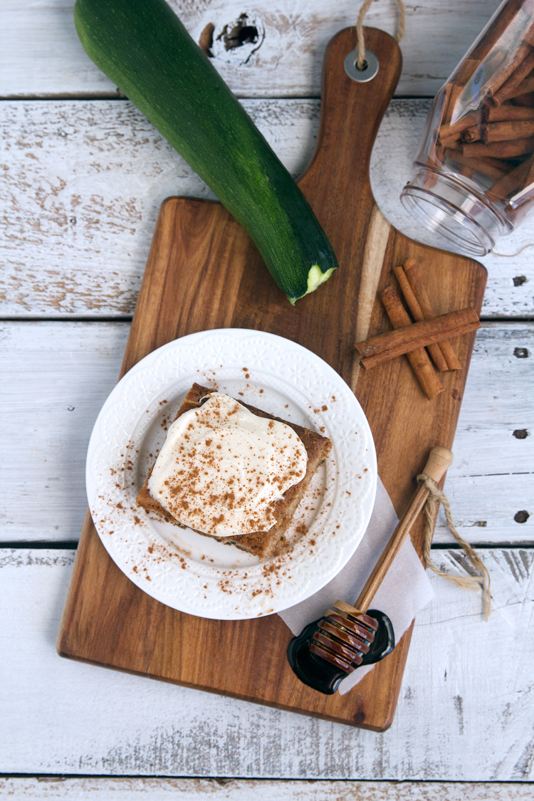 Zucchini Cake with Brown Sugar Cream Cheese Frosting