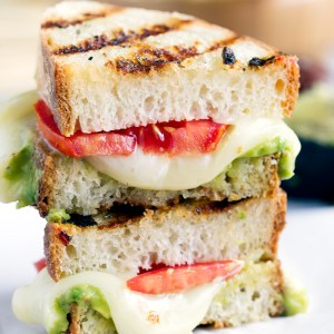 Guacamole Grilled Cheese - Grilled cheese sandwich bursting with gooey cheese and guacamole. This recipe makes a whole new way to enjoy a grilled cheese sandwich.