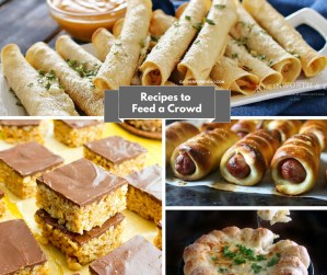 Recipes to Feed a Crowd Easy Entertaining - Recipes and ideas for food to feed a crowd at your gathering. Choices of soups,casseroles, dessert and more.