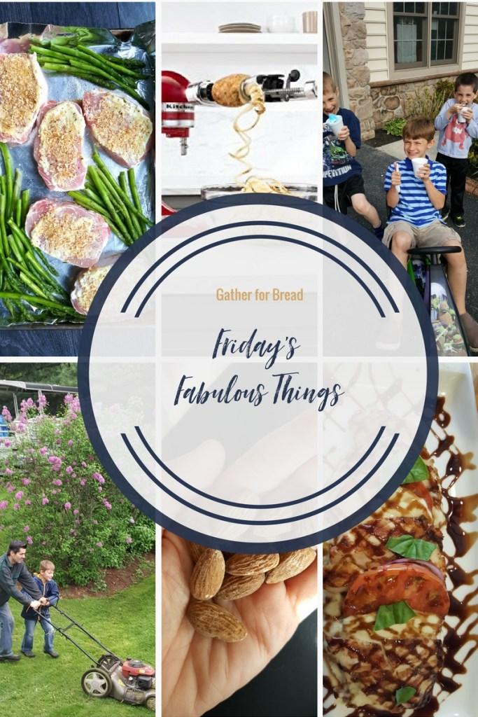 Friday's Fabulous Things Week 16