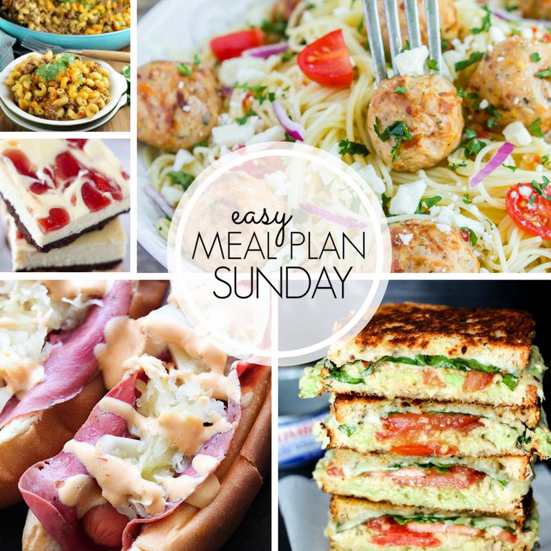 Easy Meal Plan Sunday Week 3