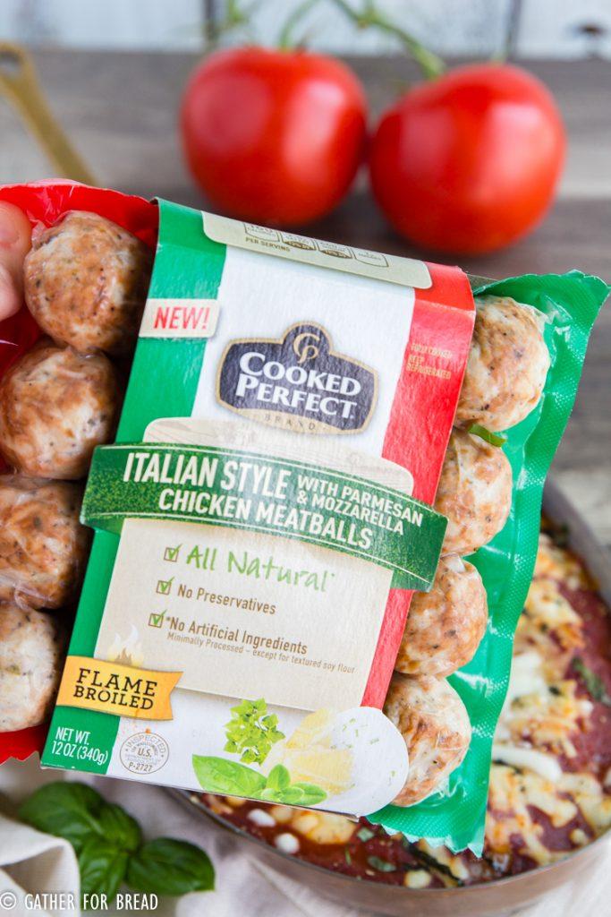 Baked Italian Meatballs - Italian Style Cooked Perfect Chicken Meatballs