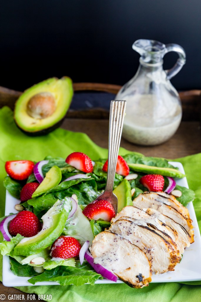 Grilled Chicken Salad Strawberry Poppy Seed Dressing ...