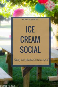 Hosting an Ice Cream Social