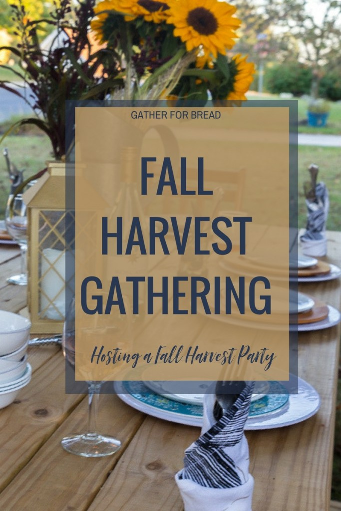 Fall Harvest Gathering- Planning a  dinner party for autumn with ideas for recipes, free invite printables, tablescape decor and more. Hosting friends at the table with fall's harvest.