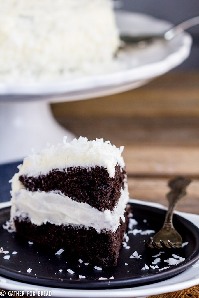 Best Chocolate Cake Coconut Buttercream - Absolute best chocolate cake, moist, easy and amazing and frosted with a homemade from scratch coconut buttercream icing. Chocolate and coconut lovers dream dessert!
