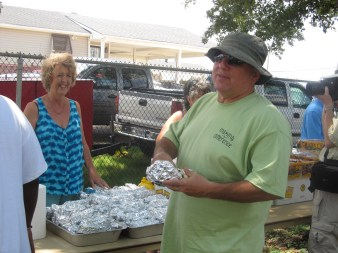 Serving Hot Dogs at Celebration Church's Desire outreach