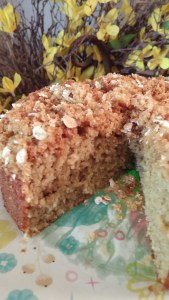 oatflour coffee cake cake balls