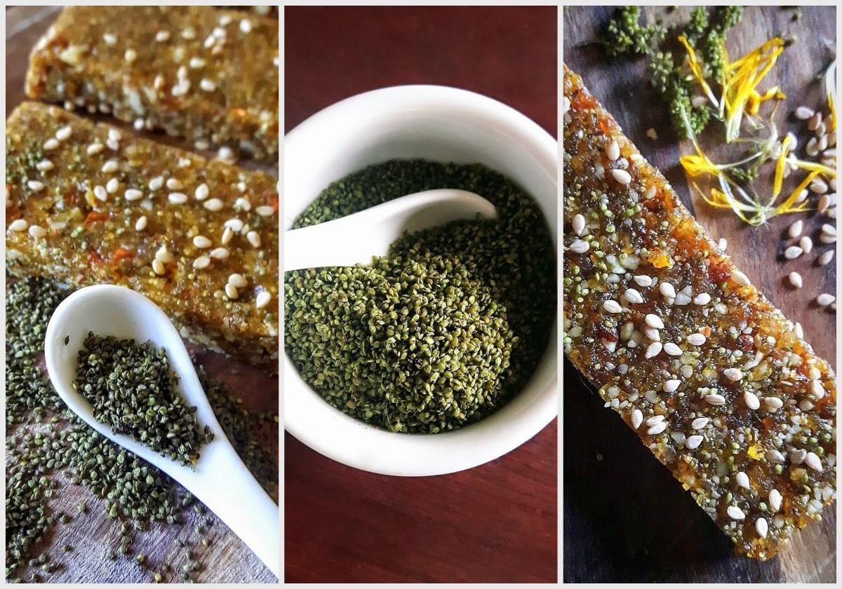Nettle Seed & Dandelion Blossom Bars: Superfood!