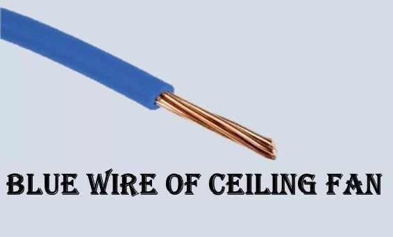 how to connect the blue wire on a ceiling fan