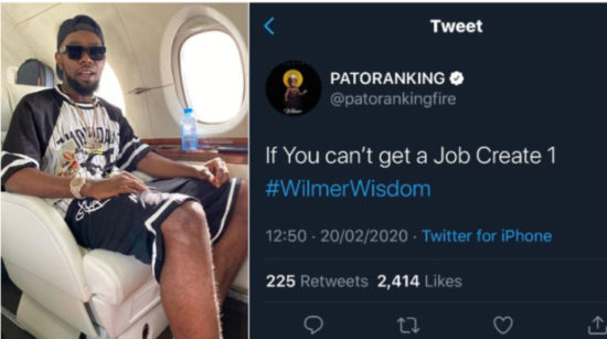 Patoranking reveals how we can tackle unemployment in Nigeria